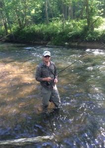 James Kibler Flyfishing the Gunpowder